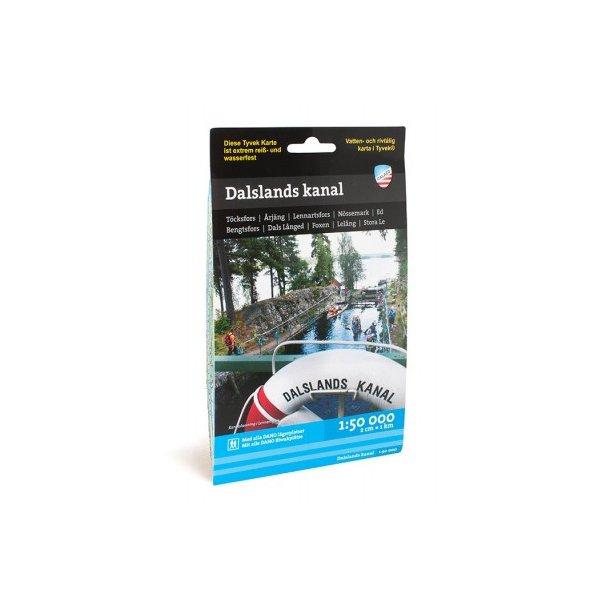 Kort over Dalsland kanalen