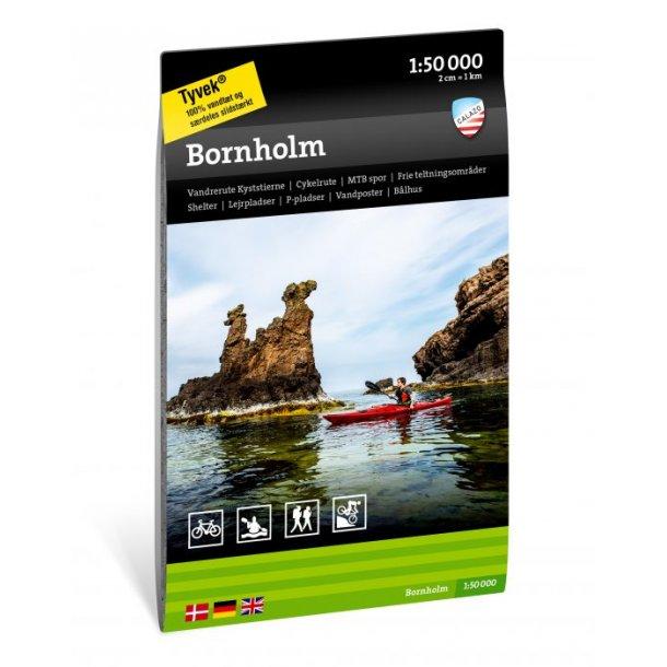 Kort over Bornholm