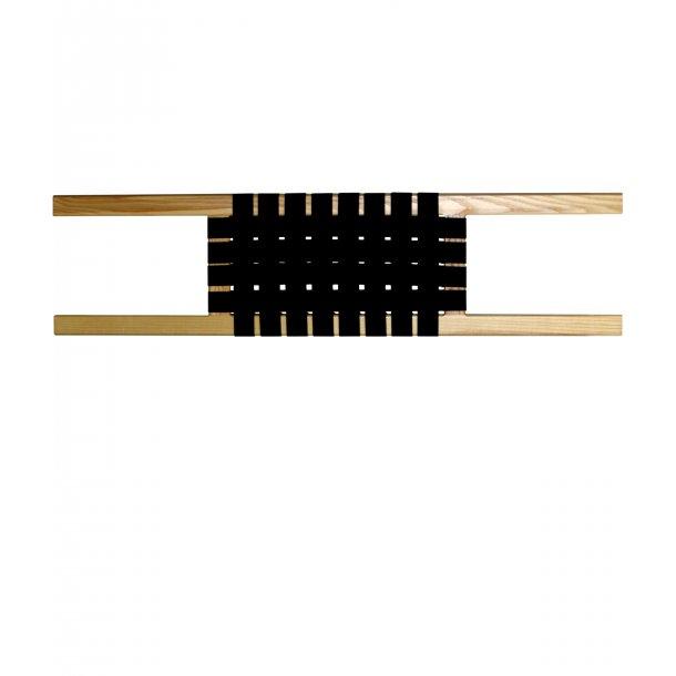 Træ/flet sæde til eftermontering i kano