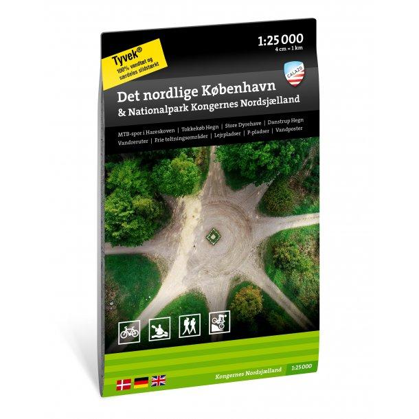 Kort over det nordlige København & Nationalpark Kongernes Nordsjælland