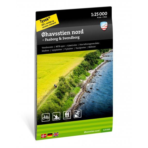 Kort over Øhavsstien nord – Faaborg & Svendborg