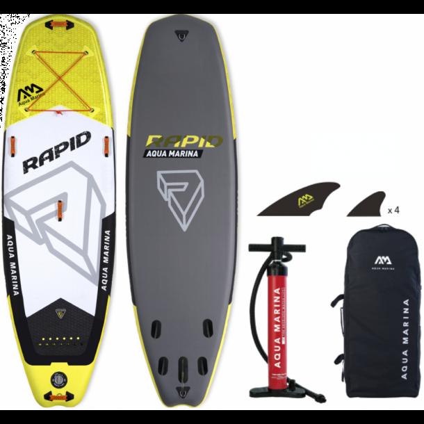 Aqua Marina Rapid 9'6 Oppustelig Wave SUP - Pakke